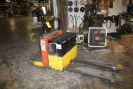 ELECTRIC PALLET JACK, 24 VOLT, WITH PRECISION MODEL 1PF12B-475EMS BATTERY CHARGER