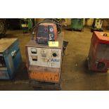 Airco welder CV-450, sn RH001170, Lincoln fire feed, on cart.