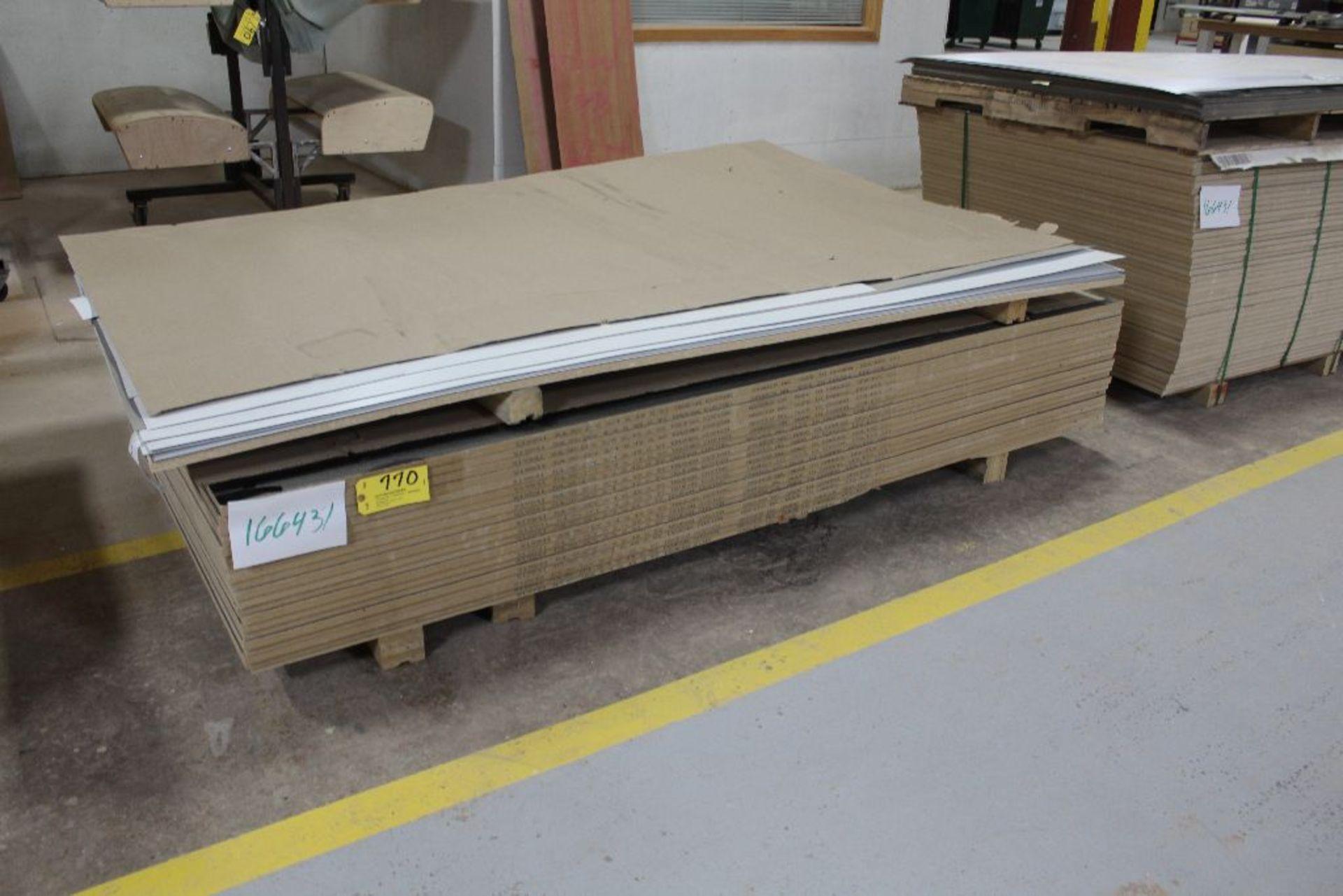 "Lot 770 - Lumber, (20) Melamine black 2 sided, 3/4"" x 49"" x 97""."