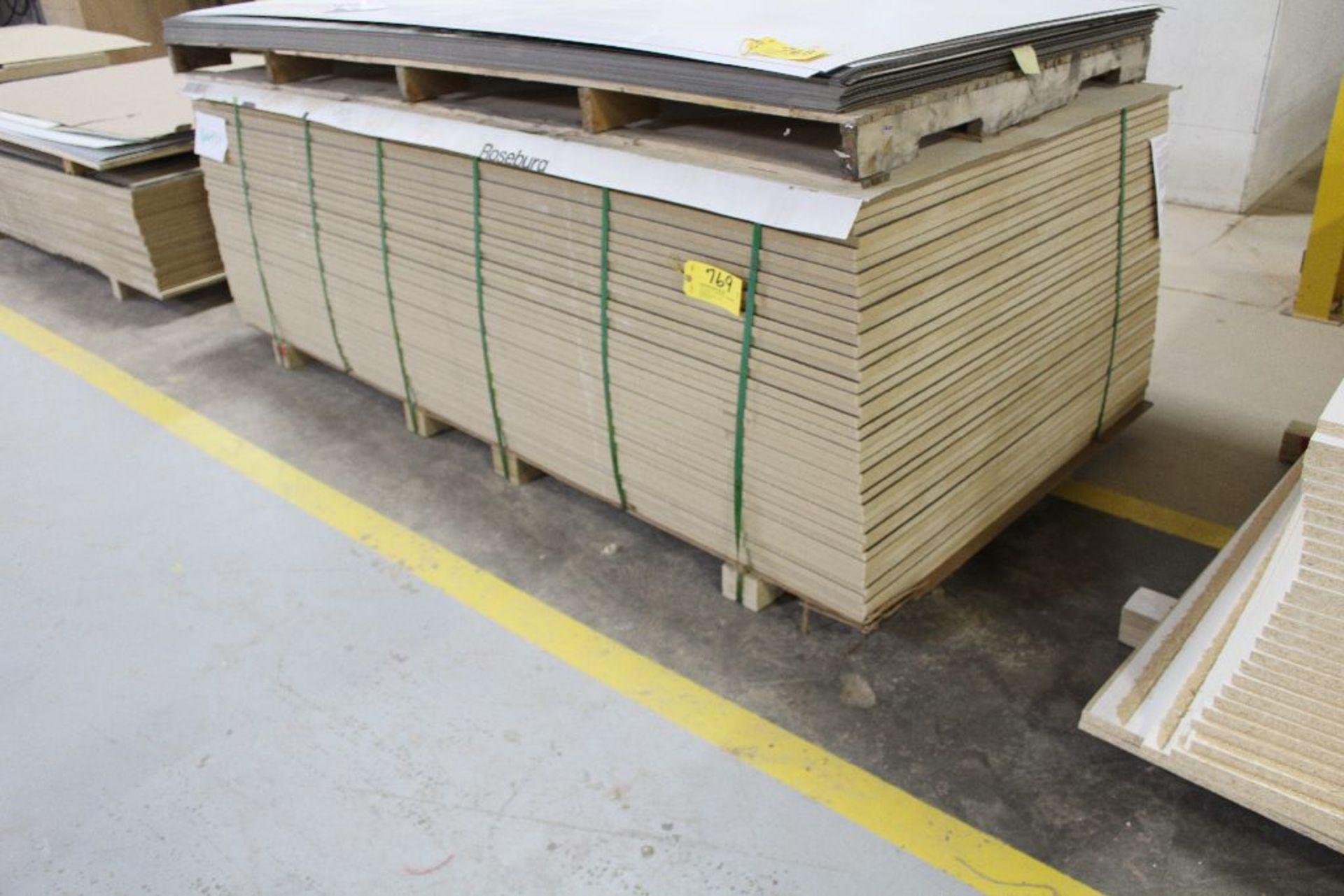 "Lot 769 - Lumber, (40) Melamine black 2 sided, 3/4"" x 49"" x 97""."
