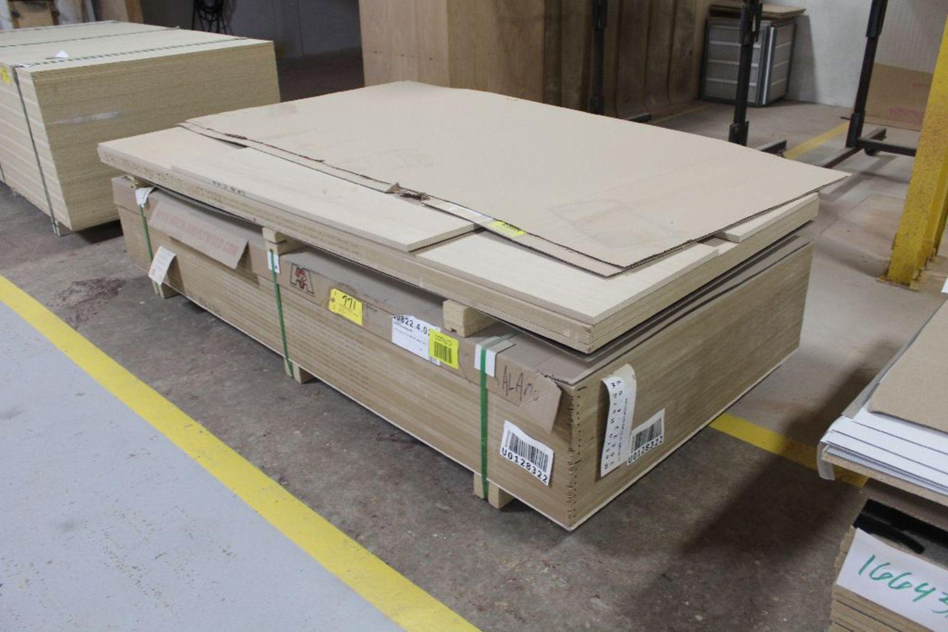 "Lot 771 - Lumber, (24) plywood MDF white oak, 3/4"" x 49"" x 97""."