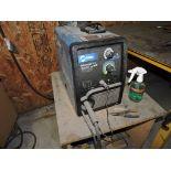 Millermatic 211 auto set with MVP wire welder, sn LK330831N.
