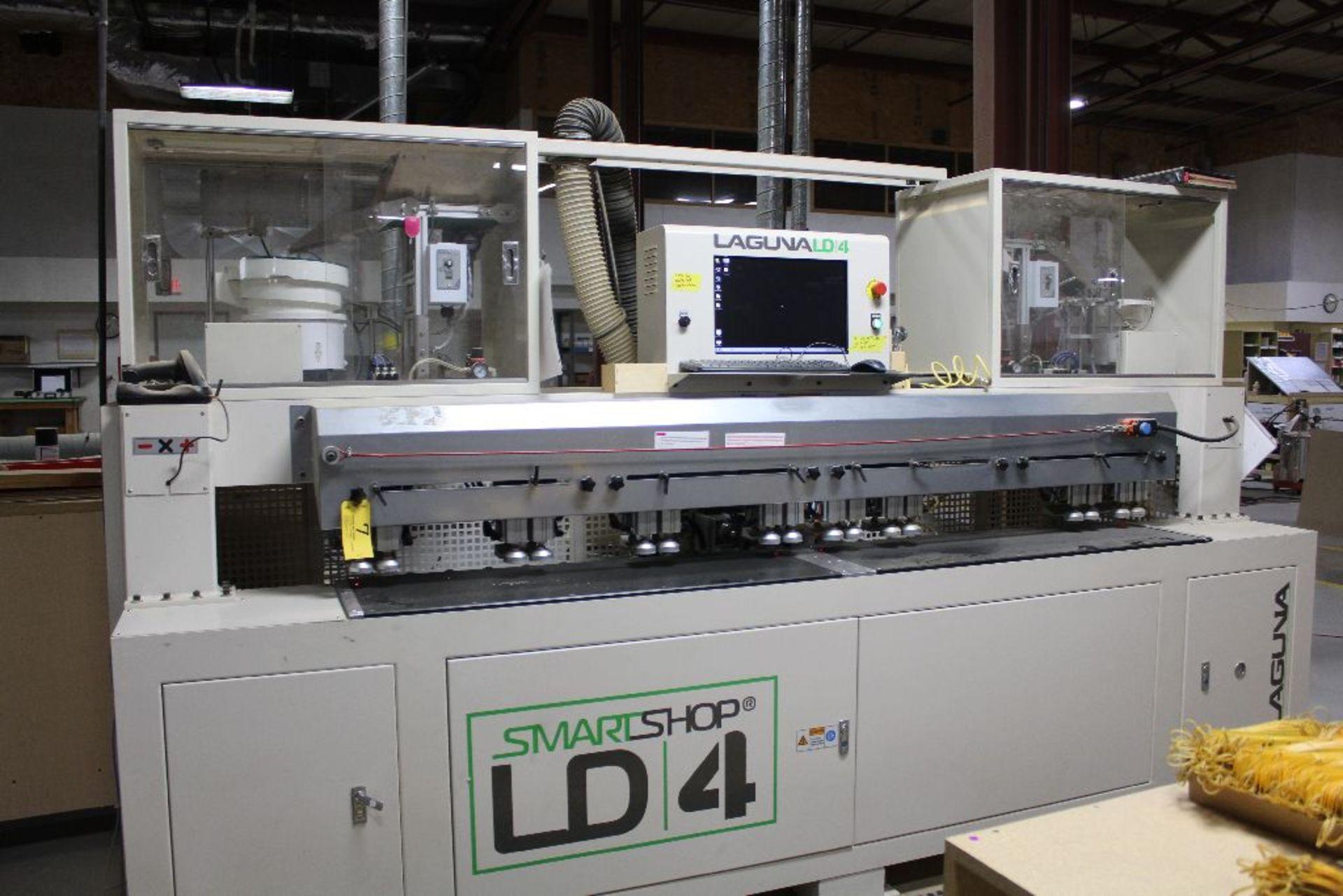 "Lot 007 - Laguna LD 4 Smartshop horz. Boring, dowel machine, sn 00100, M06930, table size 48"" x 16""."
