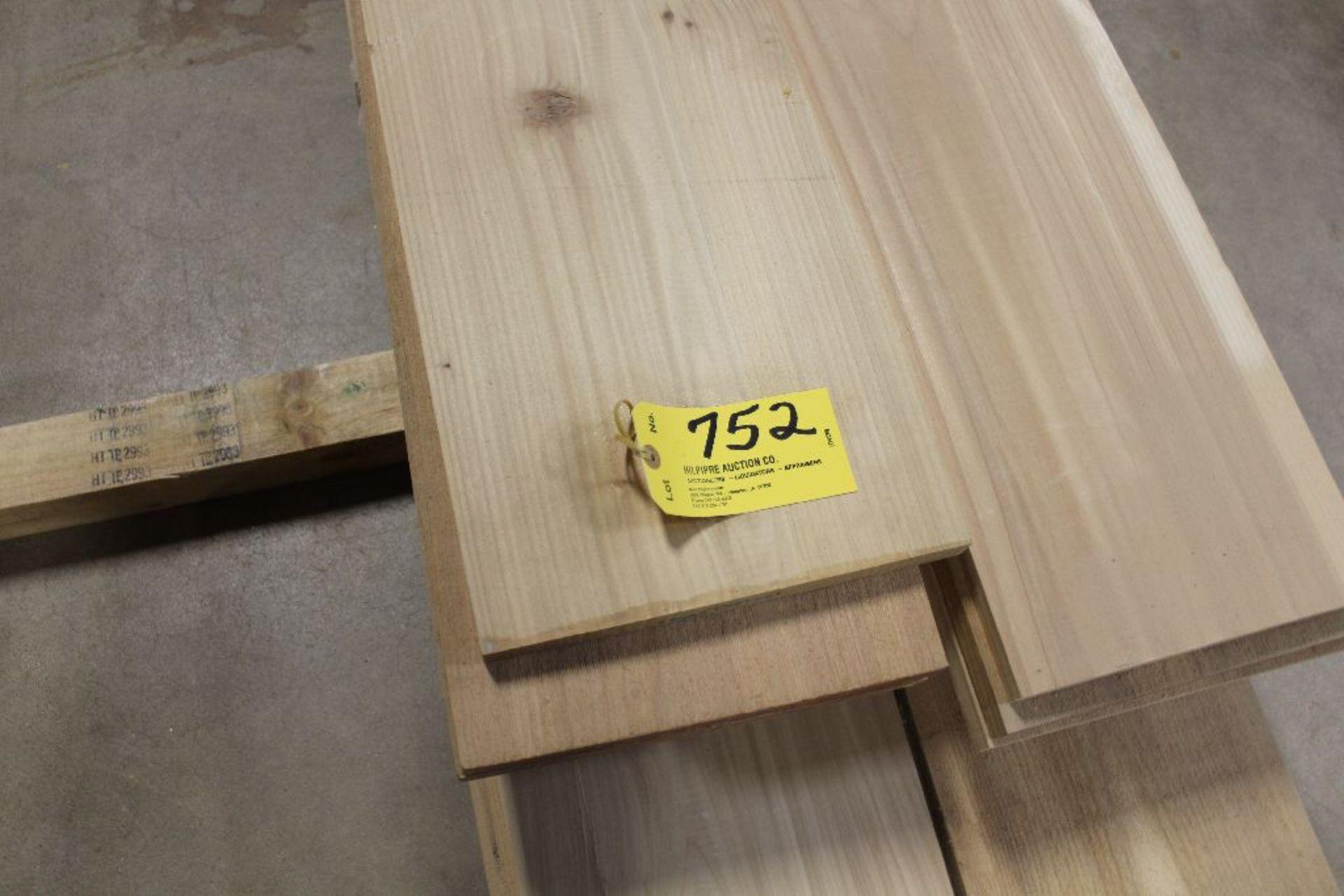 """Lot 752 - Lumber, 3/4"""" x 12"""" x 15', rough, cedar, pine."""