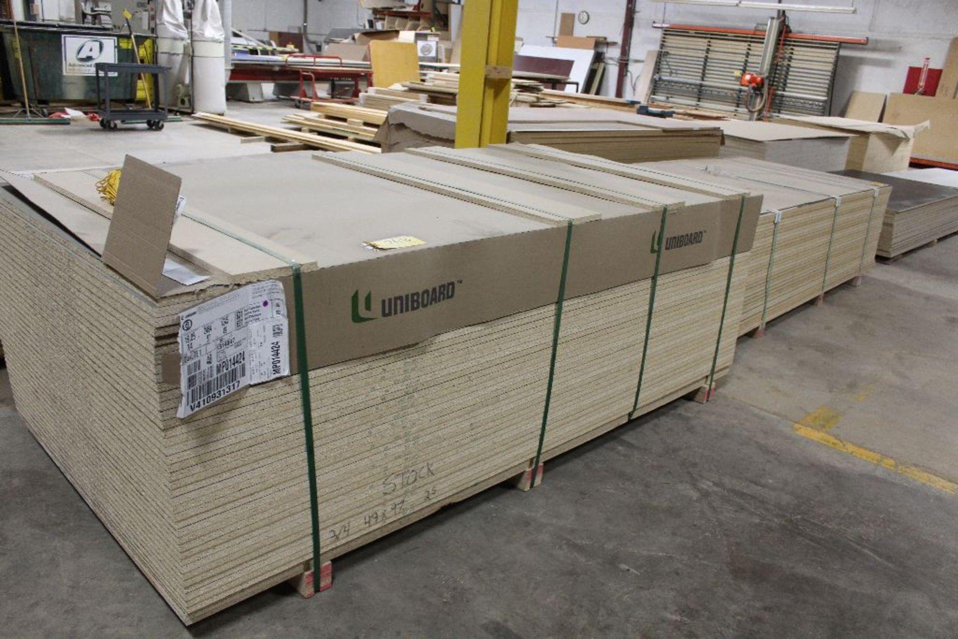 "Lot 763 - Lumber, (40) Melamine black 2 sided, 3/4"" x 49"" x 97""."