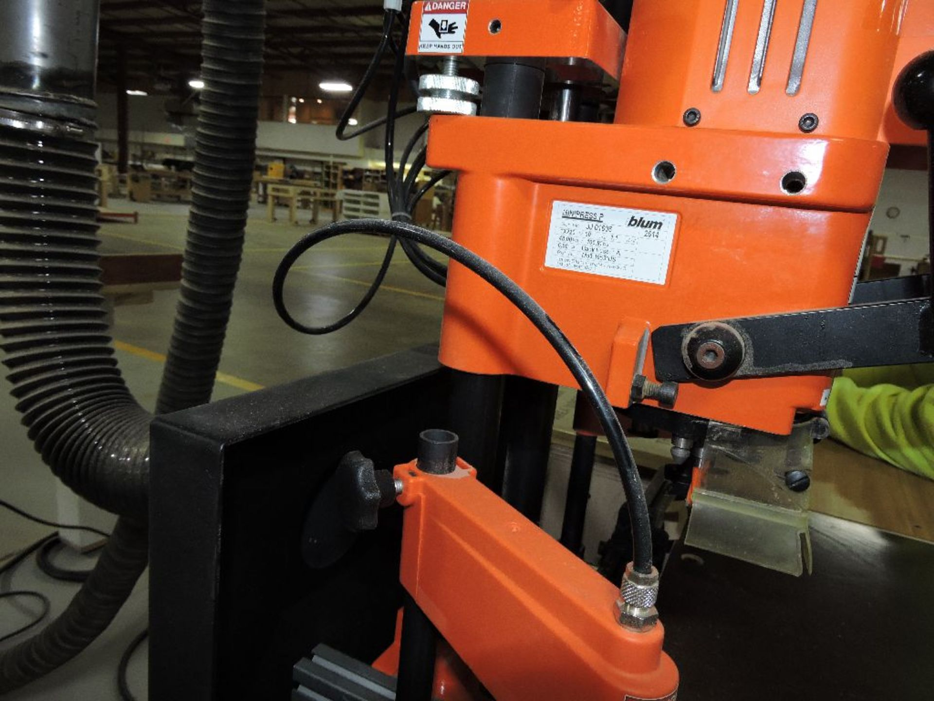 Lot 027 - 2014 Blum mini press hinge machine, sn JJ01606.