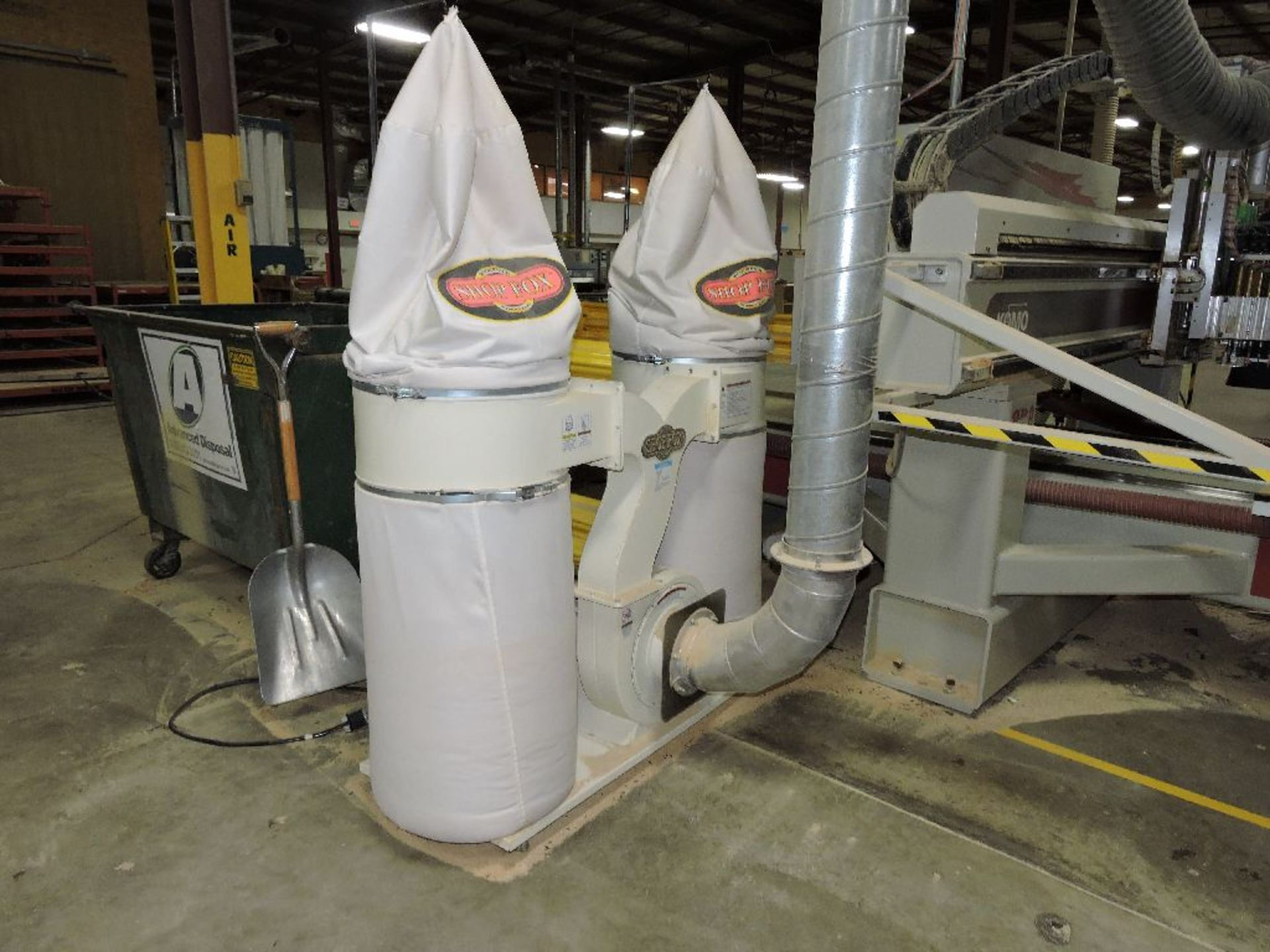 Lot 010A - 2010 Twin Sack Shop Fox dust collector, 3 hp., model W1687.