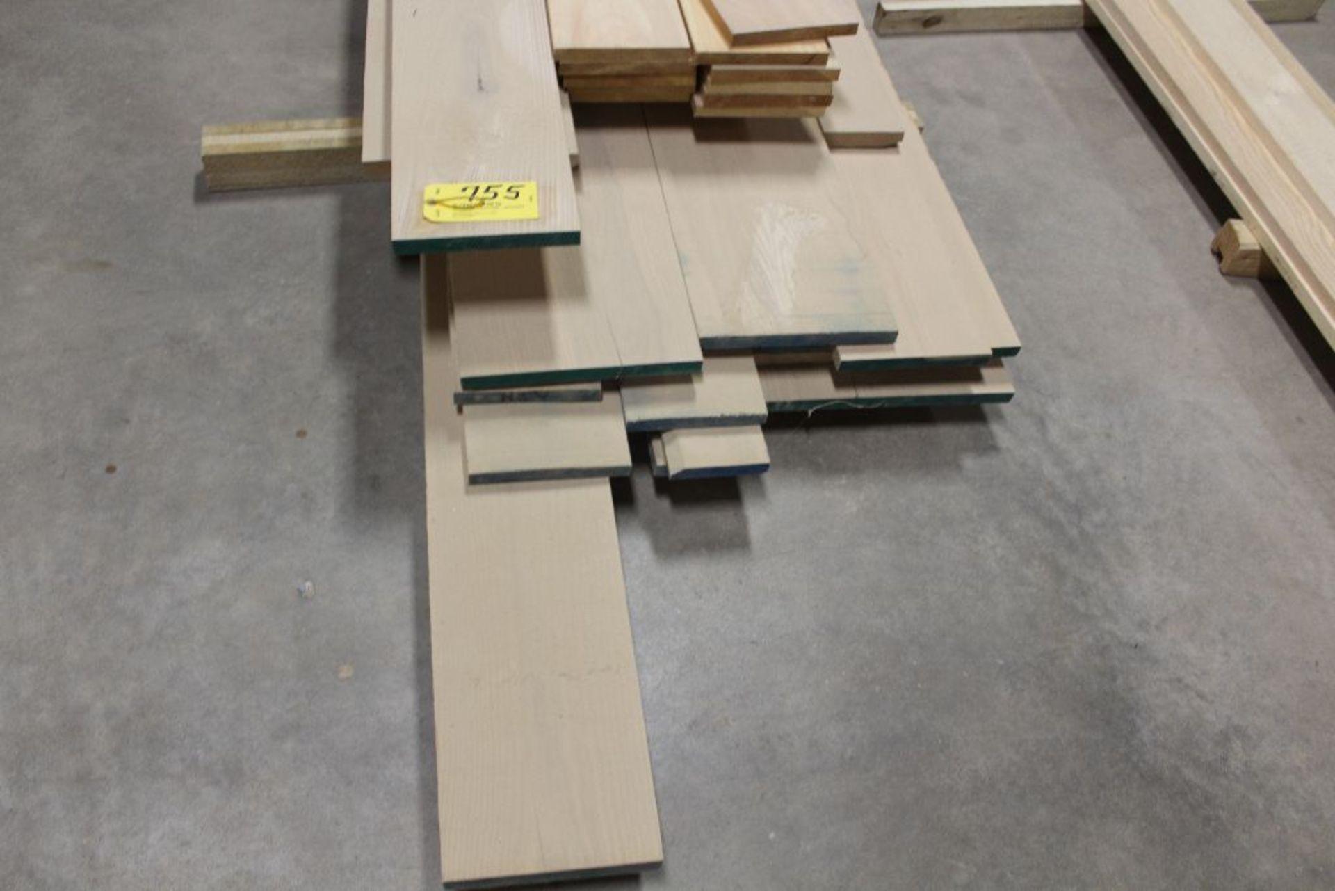 "Lot 755 - Lumber, Oak, Pine, 1"" x 10"" x 12'."