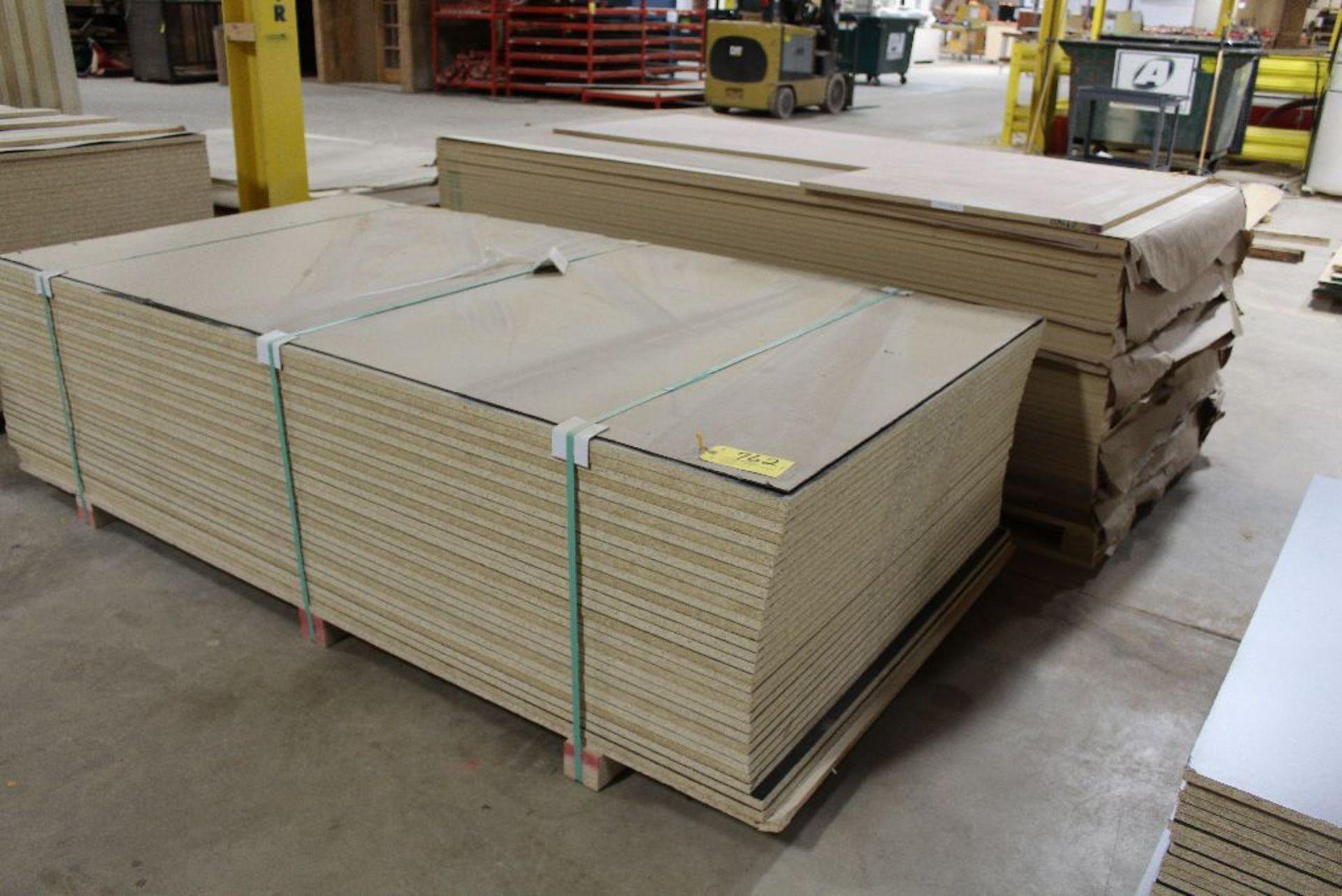 """Lot 762 - Lumber, (31) Vinly PB black 2 sided, 3/4"""" x 49"""" x 97""""."""