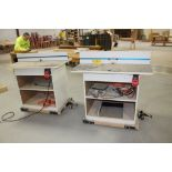 Router tables on casters.