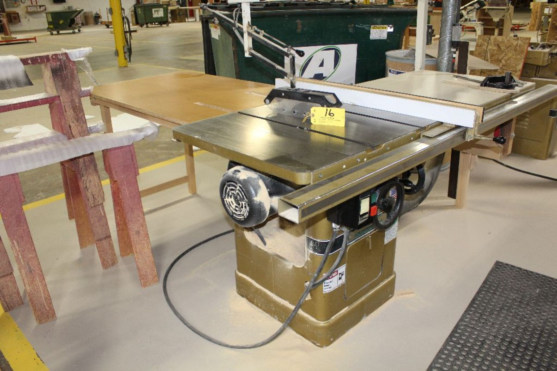 "Lot 016 - Powermatic tablesaw, model 66, sn 94662069, 6"", w/Biesemeyer Guard system, 5 hp., voltage 230/460."