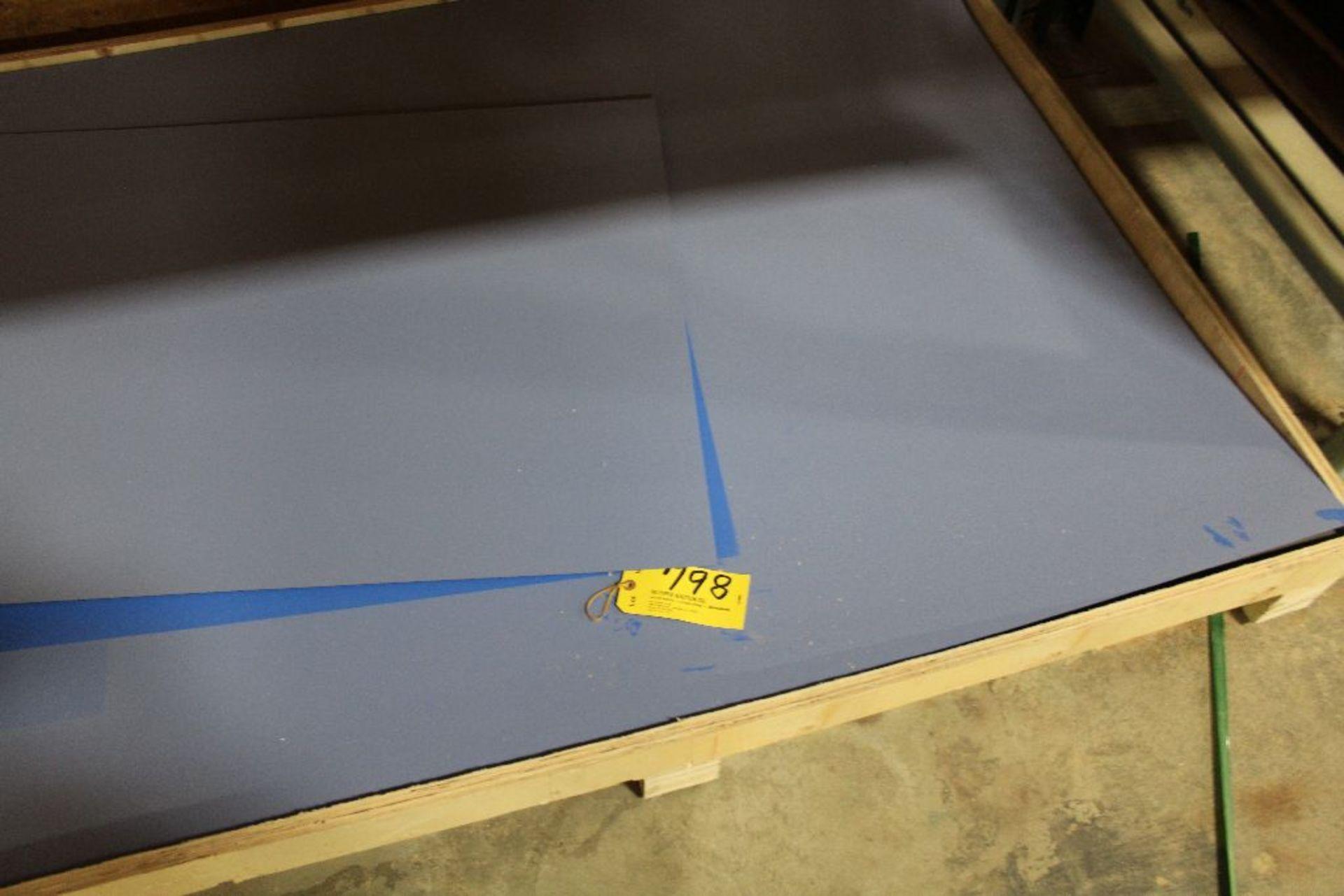 "Lot 798 - Panels, Ploy, Honda blue, 49"" x 97""."