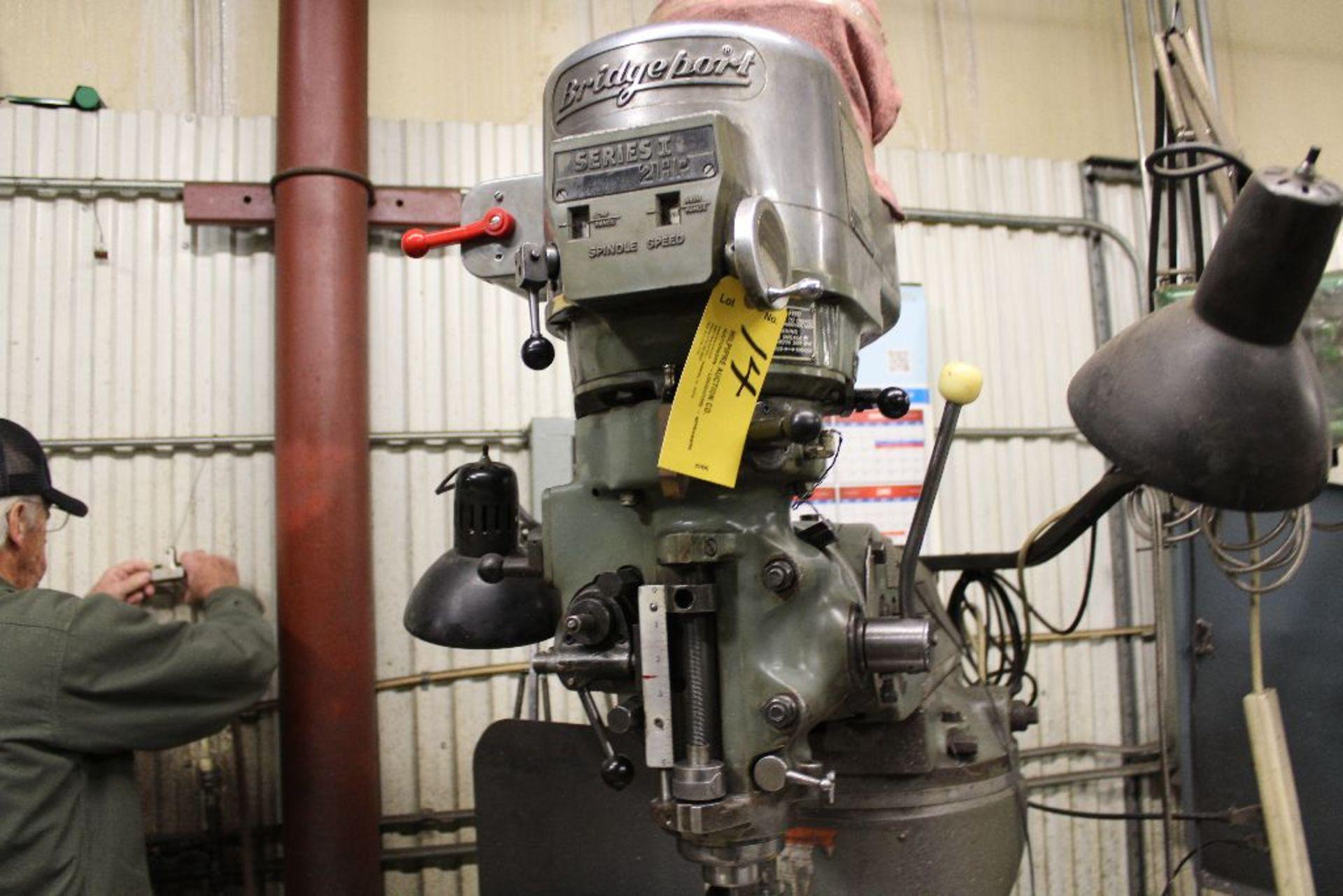 Lot 014 - Bridgeport vertical mill Series II, model 12-BR, sn 245144, 2 hp, poer feed, DRO Pros, 2m digital
