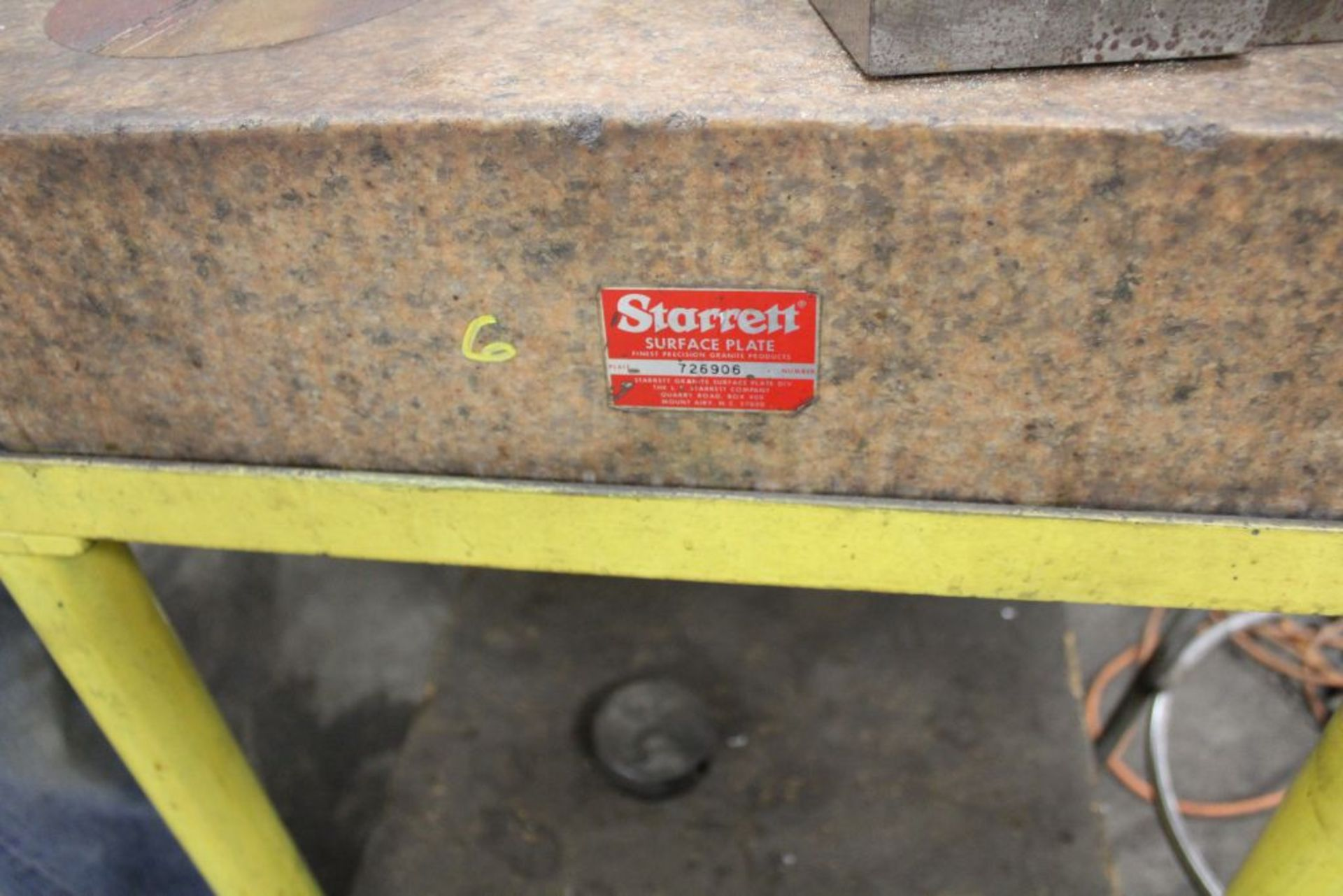 "Lot 019 - Starrett sine plate 36"" x 24"", on stand."