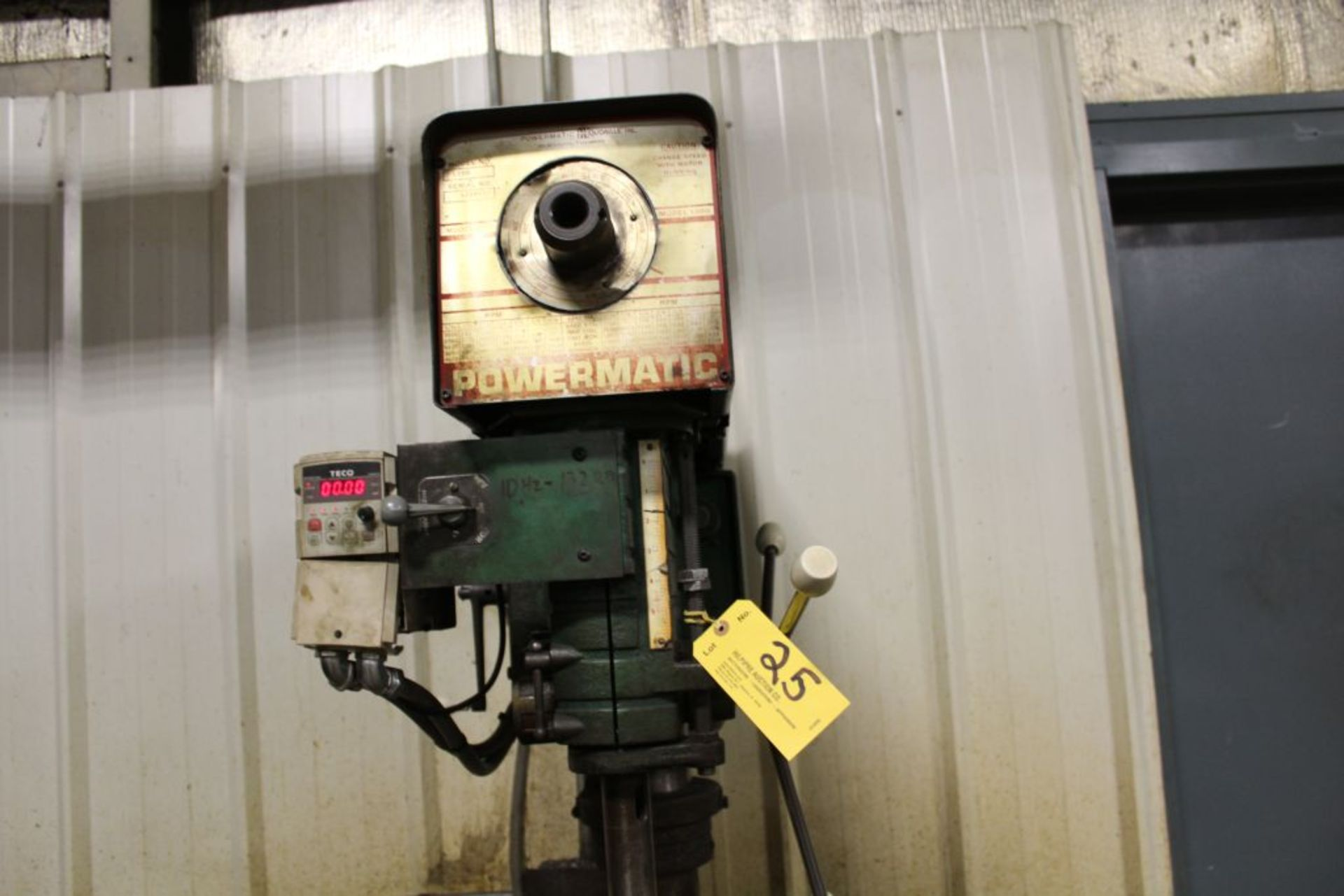 Lot 025 - Powermatic model 1200, sn 520V173, Teco VFD. Sells with owners confirmation.