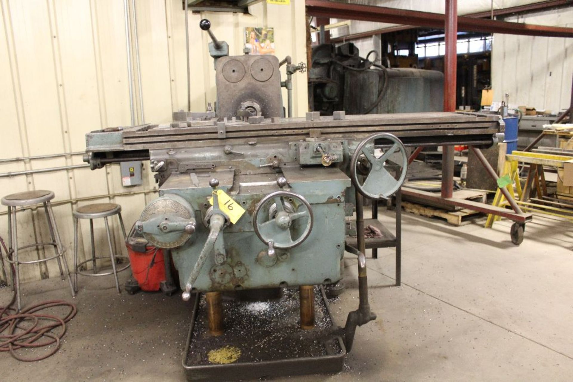 "Lot 016 - K & T horizontal #3 milling machine, No . 4 plain, model H, sn 14-3709, 48""."