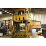 """Elms hydraulic press, 600 T., 75 hp, 44 x 66"""" bed, 6' pit, safety curtain."""