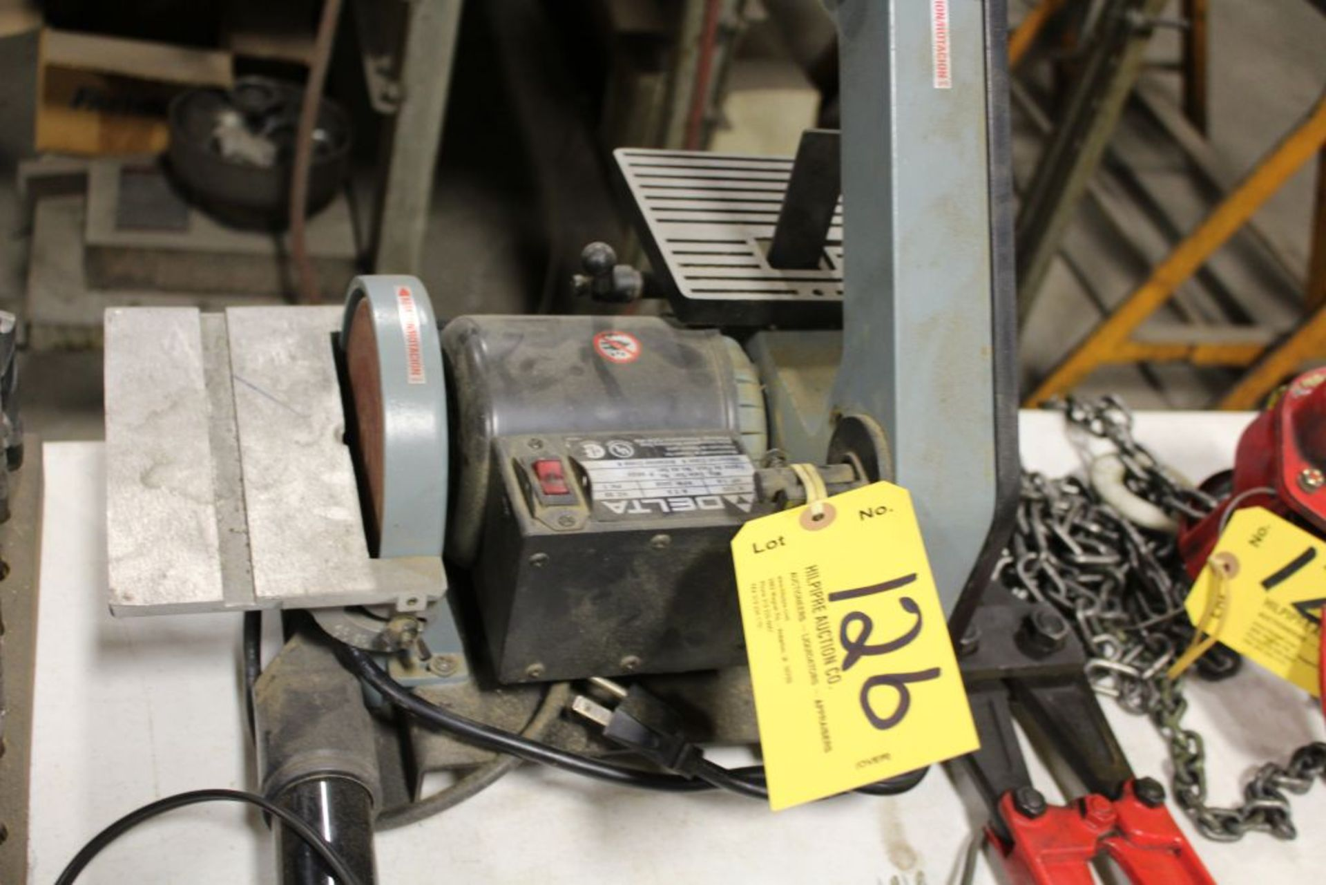 "Lot 126 - Delta 1"" belt, disc, sander."