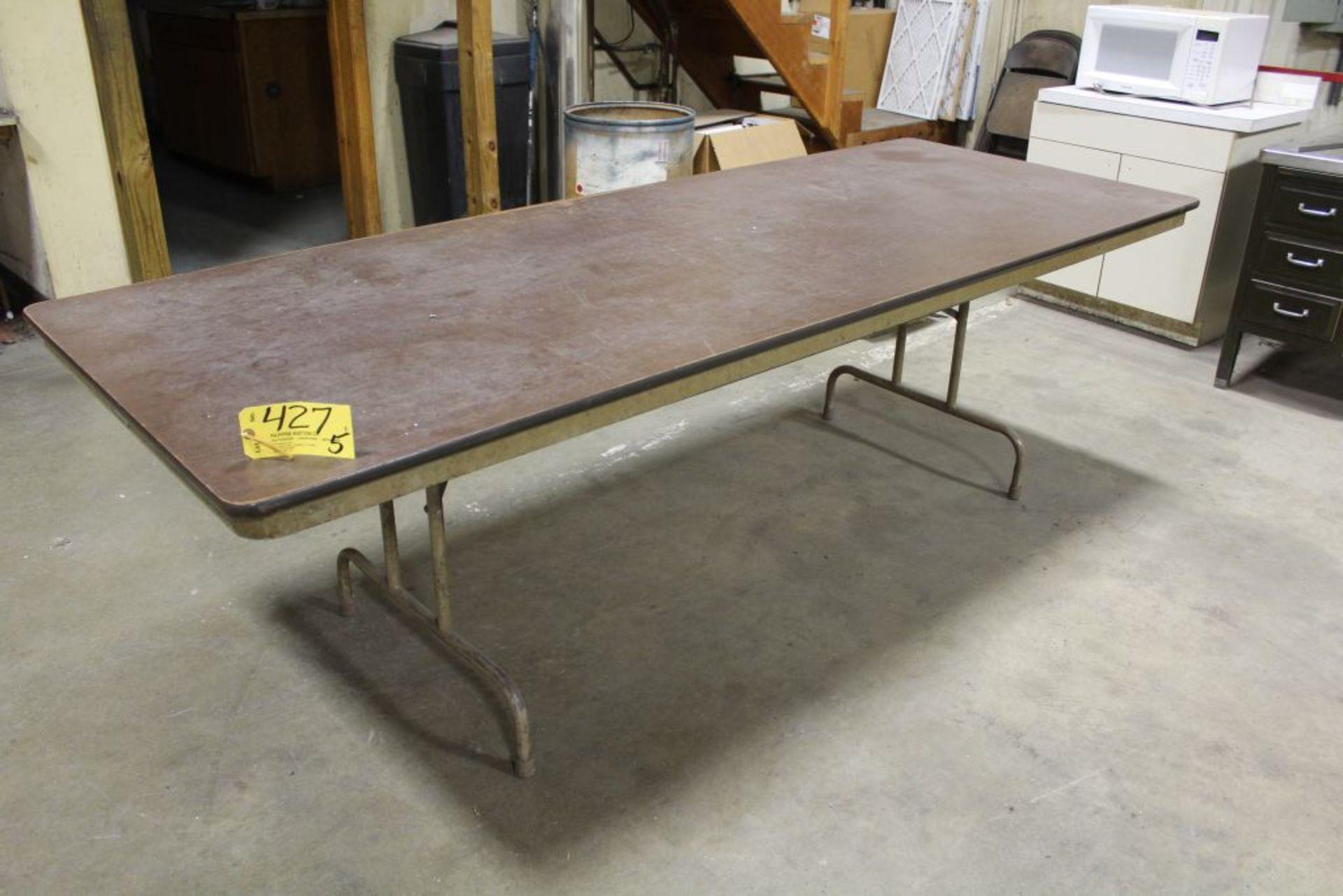 Lot 427 - Folding tables.