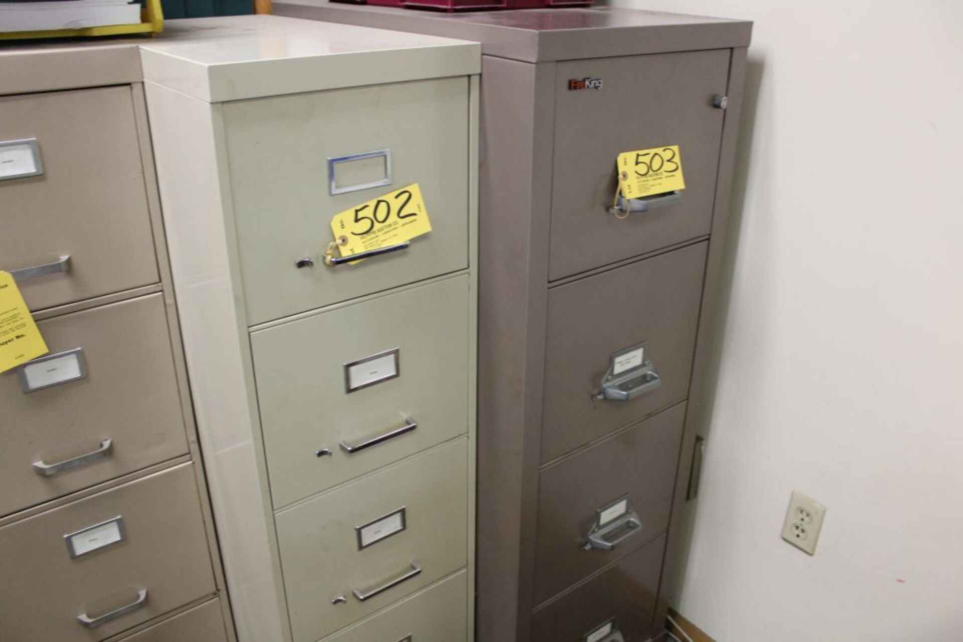Lot 502 - File cabinet, 4 drawer.