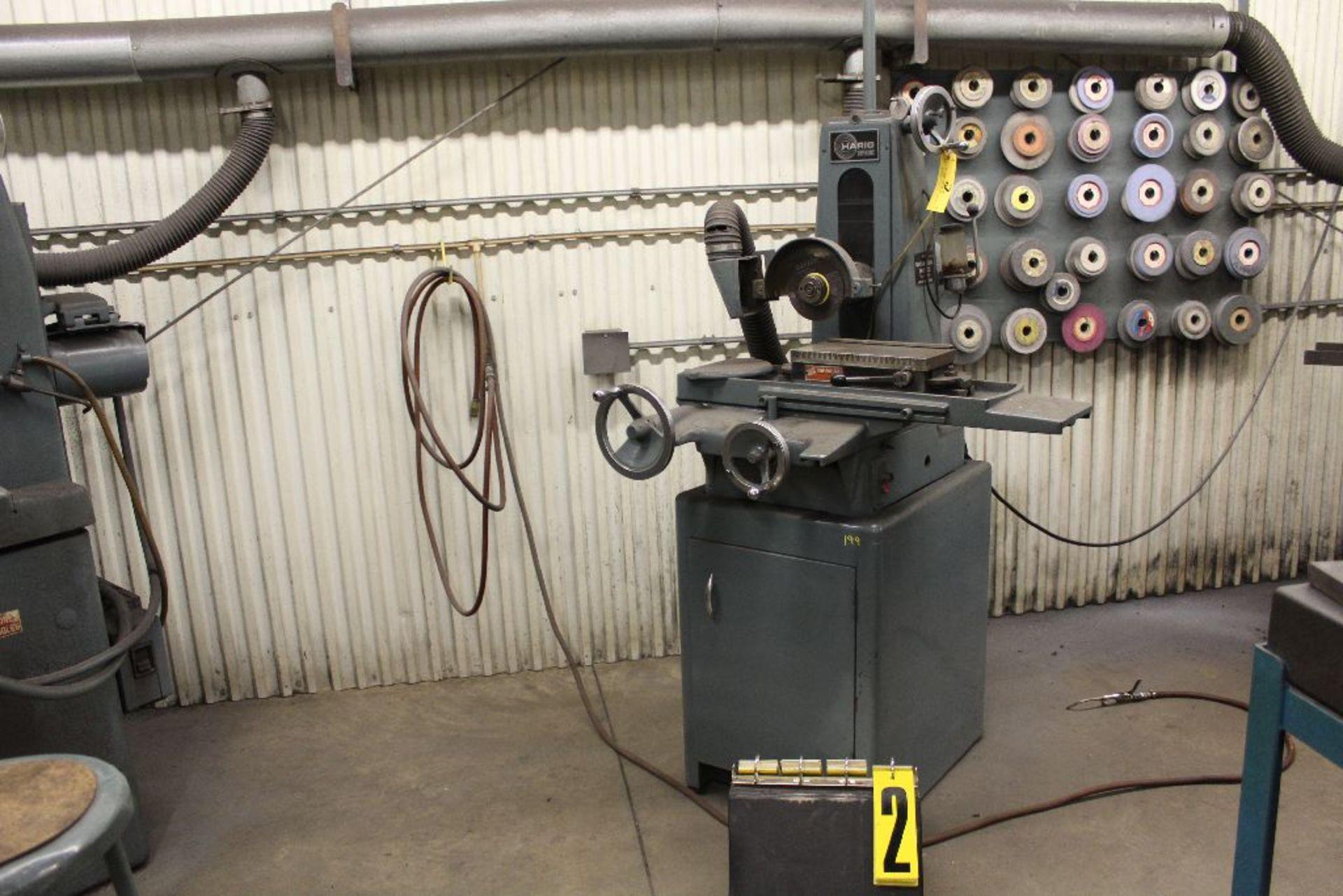 """Lot 002 - Harig surface grinder model 612, 6""""."""