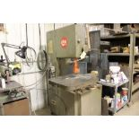 1978 Grob vertical band saw, model 4V-18, sn 3737, w/butt welder. Sells with owners confirmation.