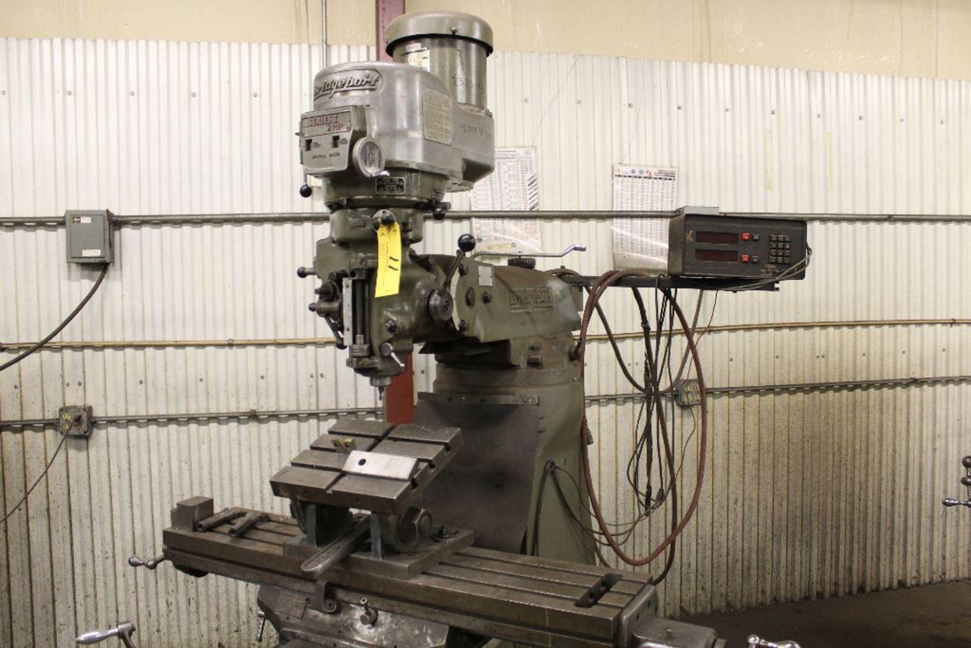 Lot 011 - Bridgeport vertical mill Series II, model 12-BR, sn 19162, 2 hp, power feed, Sargon digital