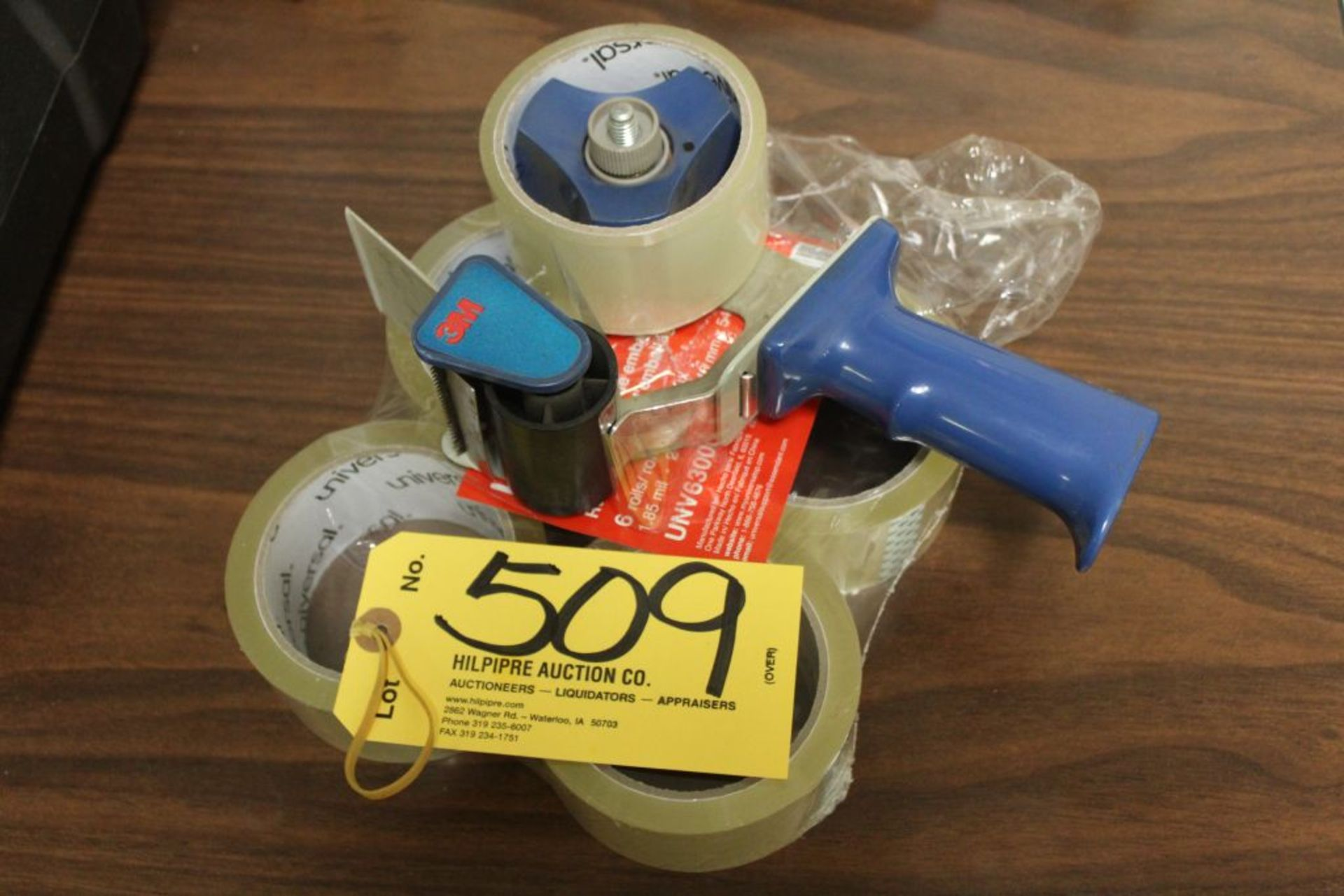 Lot 509 - Box tape with dispenser.