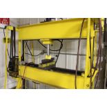 """H frame press, 25 T., shopmade, Enterpac hydraulic power, 60"""" x 12"""" x 48"""". Sells with owners"""