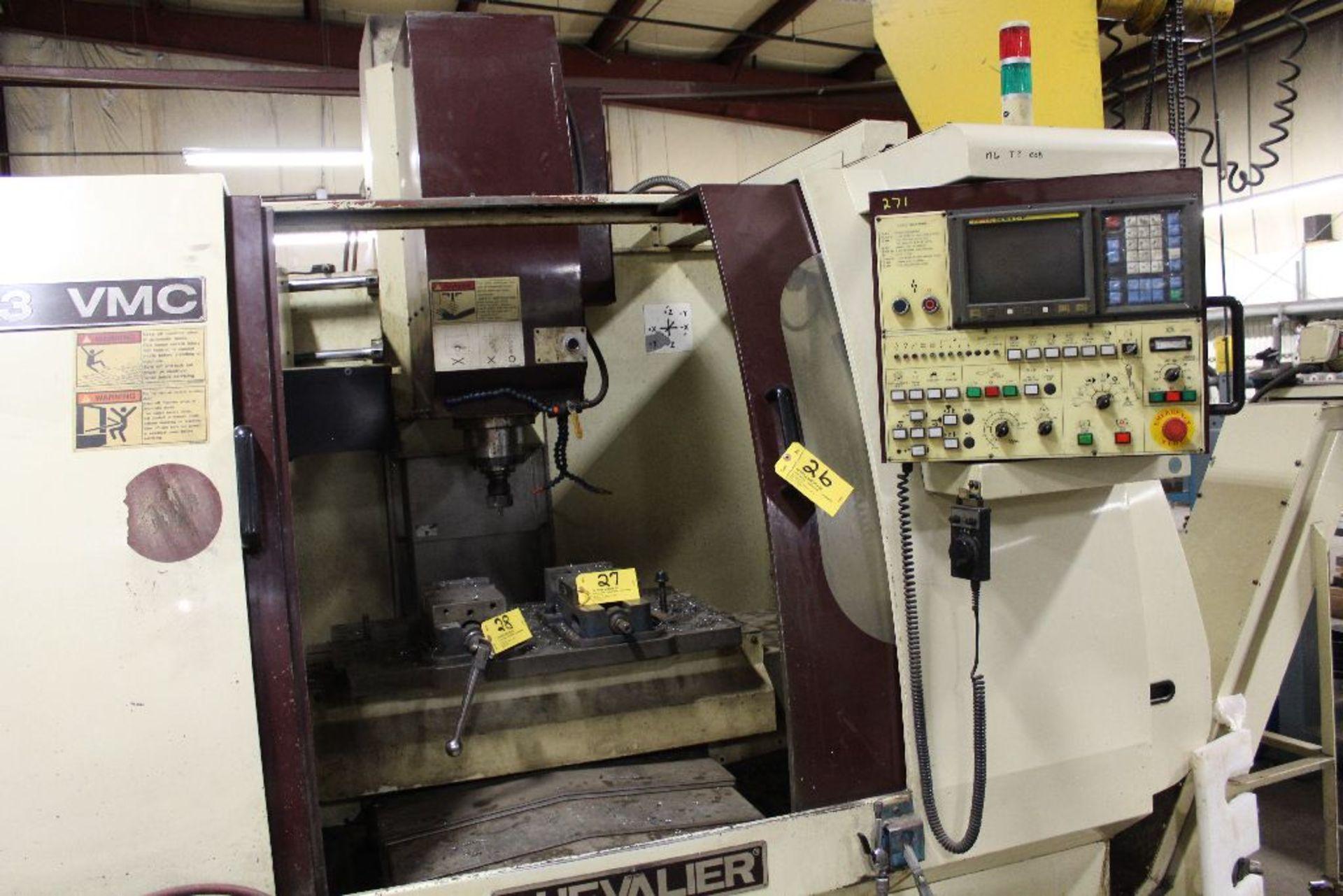 Lot 026 - Chevalier model 2033 Vertical Machining Center, sn MC875A09, 6 axis, 20 tool changer.