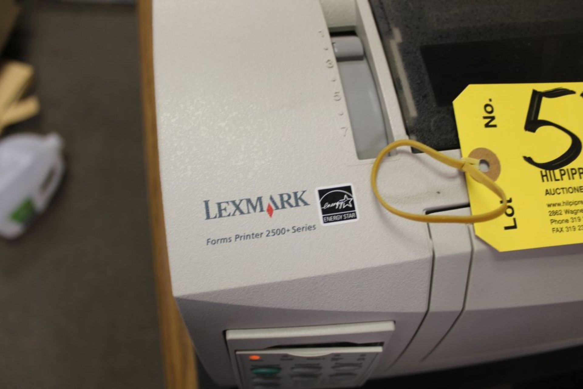 Lot 534 - Lexmark 2500 printer, with cabinet.