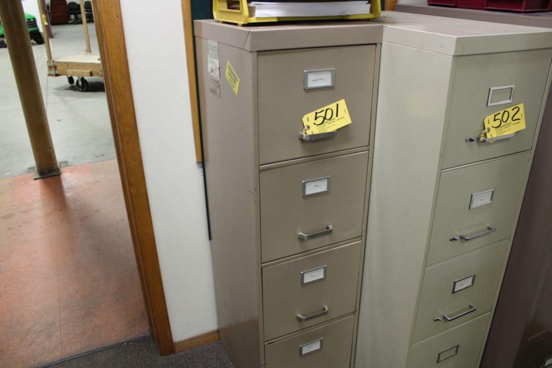 Lot 501 - File cabinet, 4 drawer.