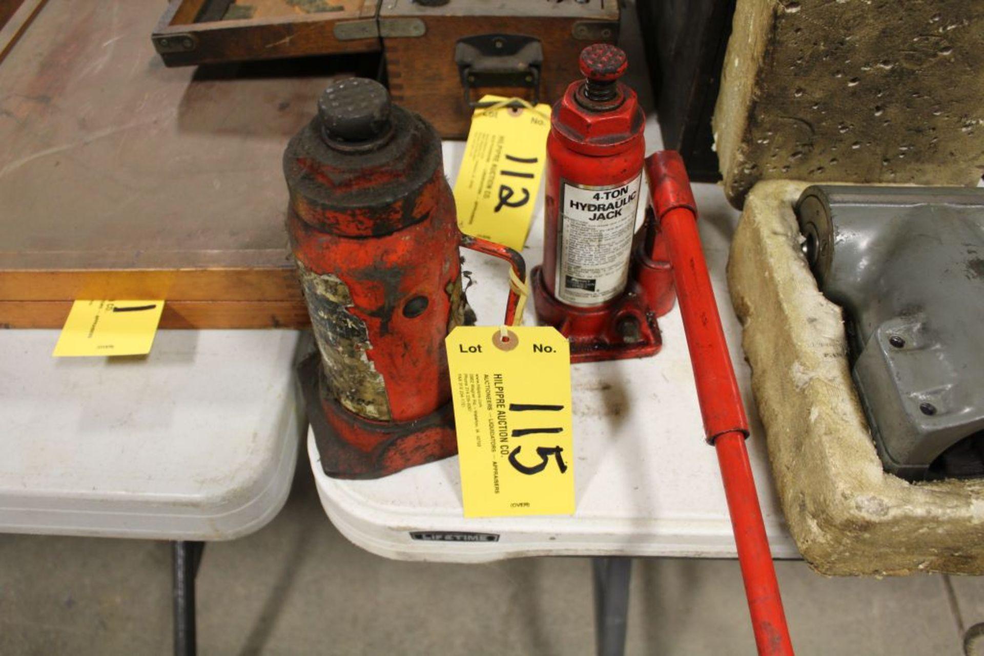 Lot 115 - Bottle jacks, (1) 4 T., (1) 8 T.