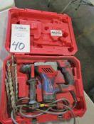 "Milwaukee Model Cat 5268-1 1-1/8"" Rotary Hammer Drill"