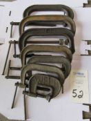 "4- 10"" C- Clamps"