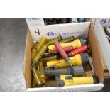 Assorted Deburring Tools and Flashlights