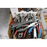 Assorted Pliers and Adjustable Wrenches
