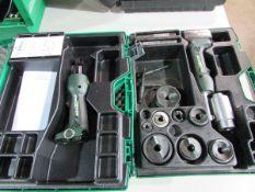 Greenlee Model Gator LS50L 18V Cordless Electric Knockout Punch Set