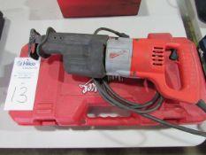 Milwaukee Cat # 6509-22 Heavy Duty Electric Sawzall Reciprocating Saw