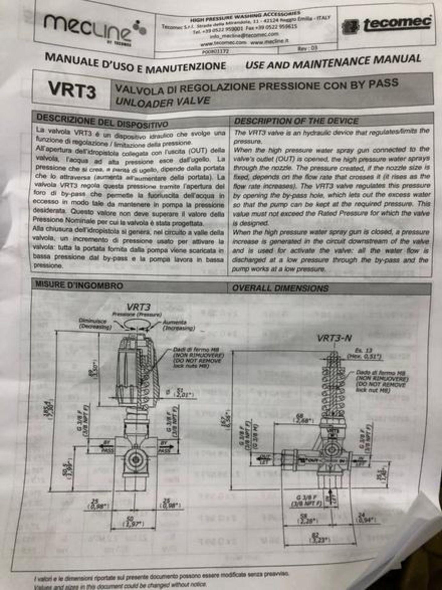 Lot 126 - (19) AR North America Model VRT3-250By Pass Unloader Valves