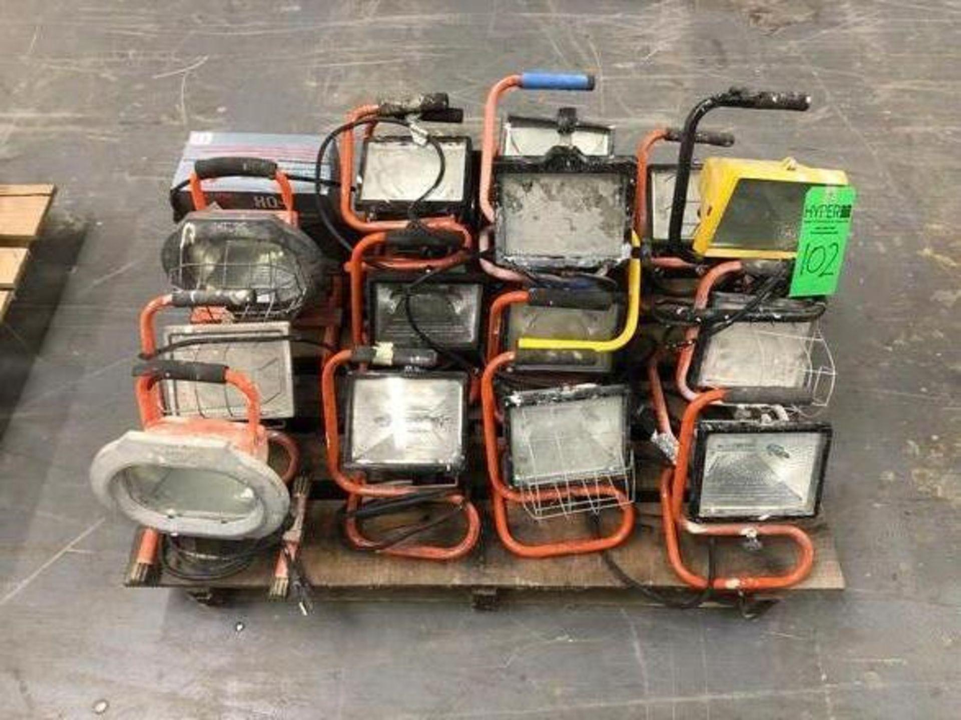 Lot 102 - Lot of Assorted Portable Quartz Halogen Work Lights