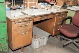 (2) Desk and File Cabinet ( No Item in or around item for Sale)