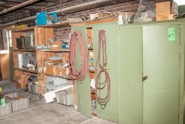 Cabinets, Shelf with Valves, Controls Boxes and Furnace Parts
