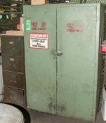 File Cabinet, 2 Door Wood Cabinet, Lock Out Tag Outs, Rain Coats and Supply's