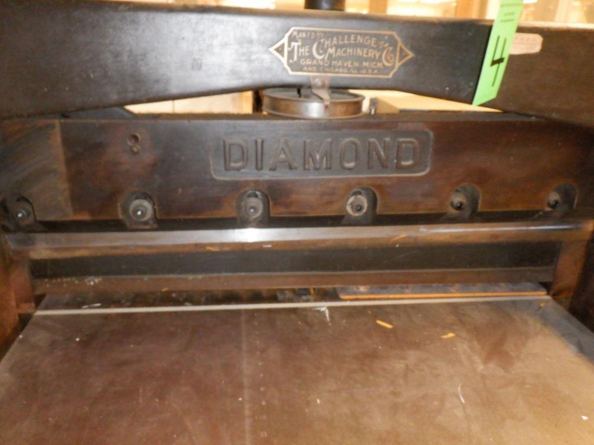"Lot 4 - Challenge 34.5"" Diamond Paper Cutter, 36"" (est.) Manual Back Gauge"