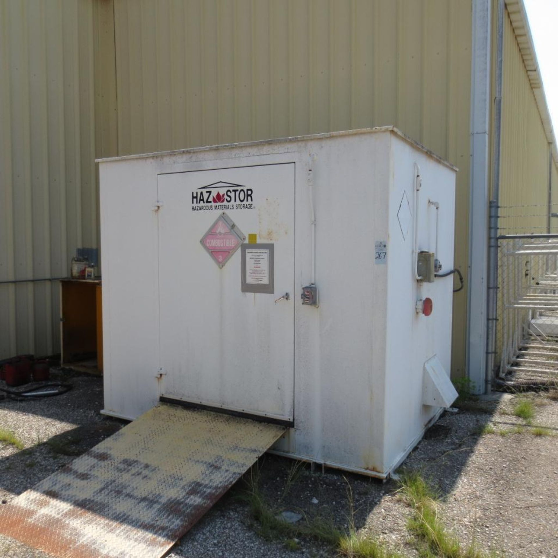 """Lot 267 - 112"""" X 88 1/2"""" Flammable Storage Building, 99 1/2"""" Tall located at 1002 Perry Street, Junction City,"""