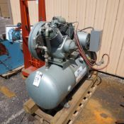 C & H 10-HP Model R-30 2-Stage Air Compressor S/N: 36254, RPM 600, 208/230/460, 1750 RPM, 3 PH locat