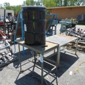"37"" X 24-1/2"" Steel Table, 60"" X 40"" Table, 55 Gallon Drum located at 707 Burlington Ave Logansport,"