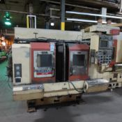 Okuma & Howa Model 2SP-20H Twin Spindle CNC Turning Center, S/N 00038, Fanuc Series 18-TT CNC Contro
