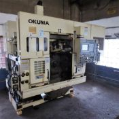 Okuma Model LFS-10 Twin Spindle Vertical CNC Turning Center S/N: 0091, Okuma OSP-7000L CNC Control,